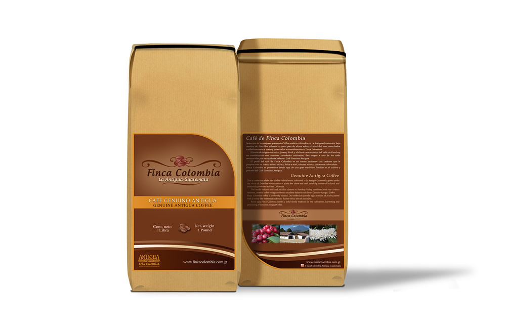 Café Genuino Antigua de Finca Colombia 10 libras